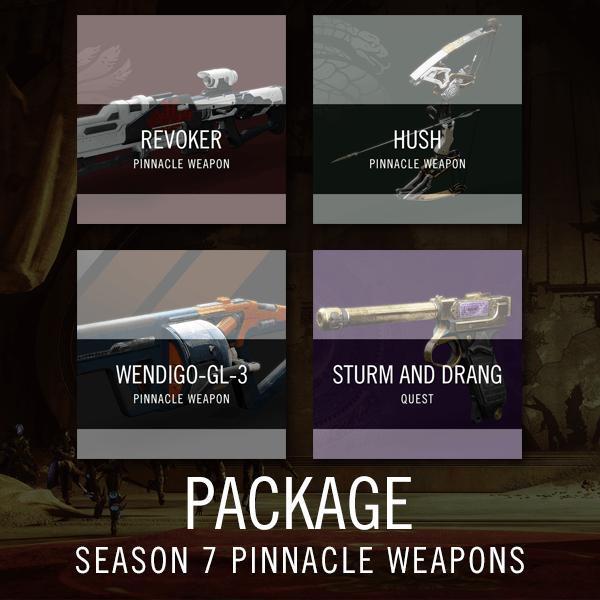 Season 7 Pinnacle Weapons