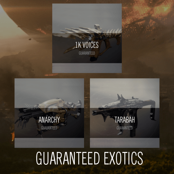 Guranteed Raid Exotics